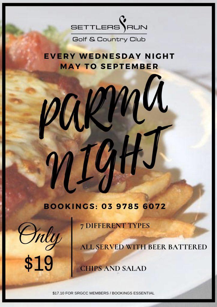 Wednesday Parma Nights