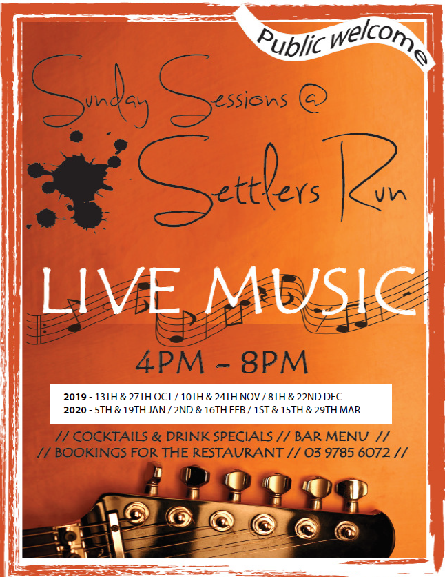 Sunday Sessions @ Settlers - CANCELLED