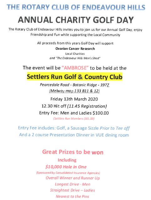 Endeavour Hills Rotary Golf Day