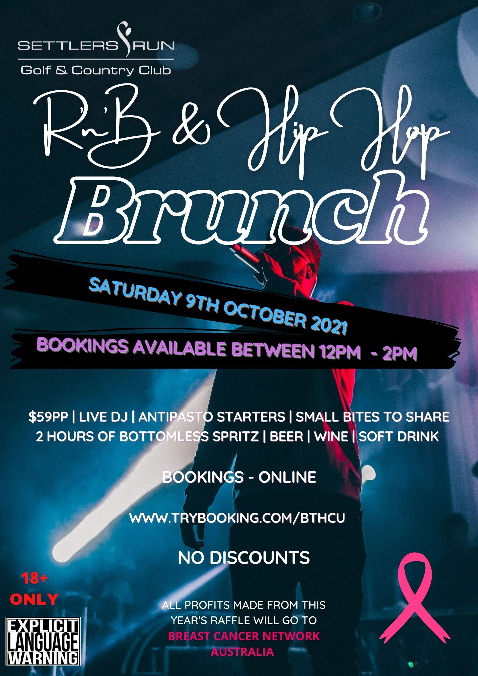R'n'B & Hip Hop Brunch POSTPONED